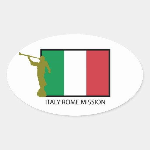 CTR DE LA MISIÓN LDS DE ITALIA ROMA PEGATINA OVALADA