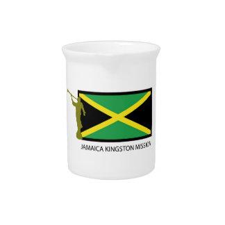 CTR DE LA MISIÓN LDS DE JAMAICA KINGSTON JARRA PARA BEBIDA