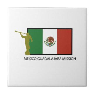 CTR DE LA MISIÓN LDS DE MÉXICO GUADALAJARA AZULEJO CUADRADO PEQUEÑO