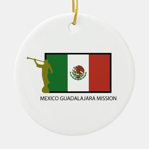 CTR DE LA MISIÓN LDS DE MÉXICO GUADALAJARA ADORNO REDONDO DE CERÁMICA