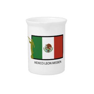 CTR DE LA MISIÓN LDS DE MÉXICO LEÓN JARRA PARA BEBIDA