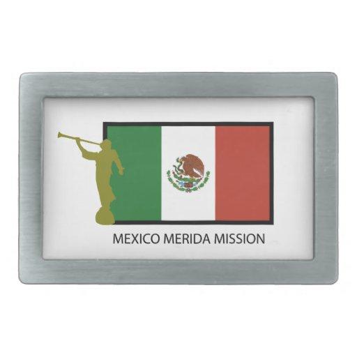 CTR DE LA MISIÓN LDS DE MÉXICO MÉRIDA HEBILLAS DE CINTURON RECTANGULARES