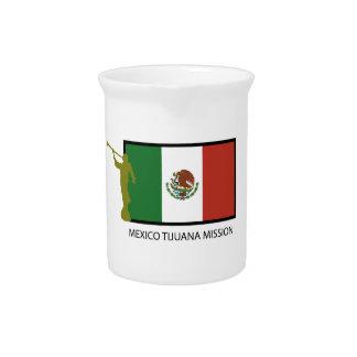 CTR DE LA MISIÓN LDS DE MÉXICO TIJUANA JARRA PARA BEBIDA