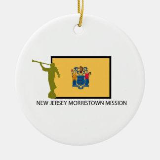 CTR DE LA MISIÓN LDS DE MORRISTOWN DE NEW JERSEY ADORNO NAVIDEÑO REDONDO DE CERÁMICA