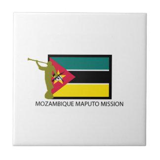 CTR DE LA MISIÓN LDS DE MOZAMBIQUE MAPUTO AZULEJO CUADRADO PEQUEÑO