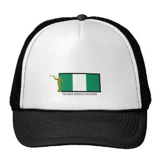 CTR DE LA MISIÓN LDS DE NIGERIA ENUGU GORROS BORDADOS