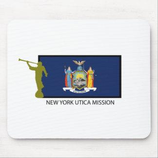 CTR DE LA MISIÓN LDS DE NUEVA YORK UTICA ALFOMBRILLA DE RATON