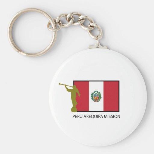 CTR DE LA MISIÓN LDS DE PERÚ AREQUIPA LLAVERO REDONDO TIPO PIN