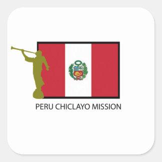 CTR DE LA MISIÓN LDS DE PERÚ CHICLAYO CALCOMANÍAS CUADRADASS PERSONALIZADAS