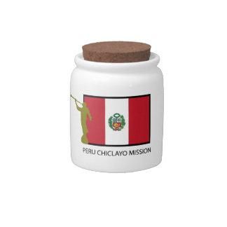 CTR DE LA MISIÓN LDS DE PERÚ CHICLAYO TARRO DE CERÁMICA PARA DULCES