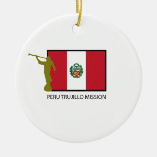 CTR DE LA MISIÓN LDS DE PERÚ TRUJILLO ADORNO NAVIDEÑO REDONDO DE CERÁMICA