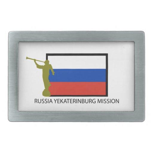 CTR DE LA MISIÓN LDS DE RUSIA EKATERIMBURGO HEBILLAS CINTURON RECTANGULARES