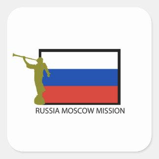 CTR DE LA MISIÓN LDS DE RUSIA MOSCÚ CALCOMANÍA CUADRADAS PERSONALIZADA