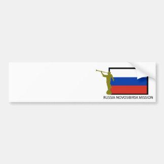 CTR DE LA MISIÓN LDS DE RUSIA NOVOSIBIRSK PEGATINA PARA AUTO