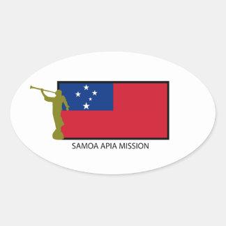 CTR DE LA MISIÓN LDS DE SAMOA APIA COLCOMANIAS OVAL PERSONALIZADAS