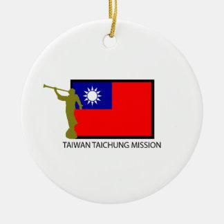 CTR DE LA MISIÓN LDS DE TAIWÁN TAICHUNG ADORNO NAVIDEÑO REDONDO DE CERÁMICA