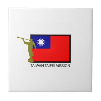 CTR DE LA MISIÓN LDS DE TAIWÁN TAIPEI AZULEJO CUADRADO PEQUEÑO