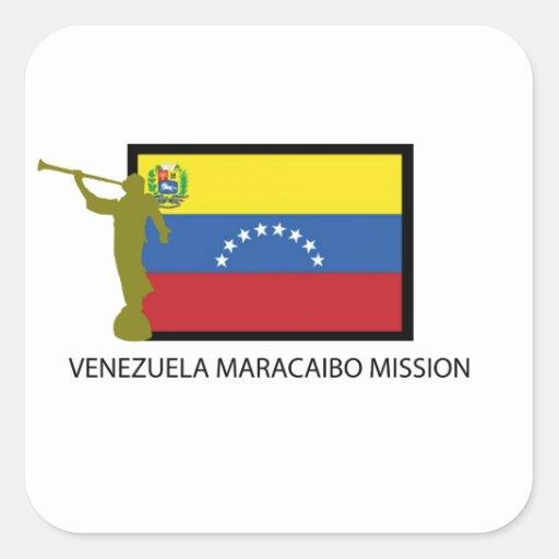 CTR DE LA MISIÓN LDS DE VENEZUELA VALENCIA PEGATINA CUADRADA