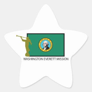CTR DE LA MISIÓN LDS DE WASHINGTON EVERETT CALCOMANÍAS FORMA DE ESTRELLAES