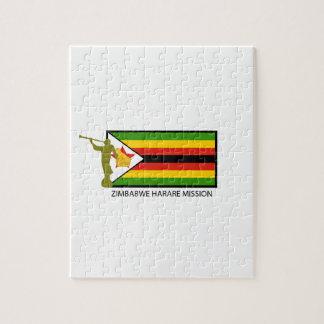CTR DE LA MISIÓN LDS DE ZIMBABWE HARARE ROMPECABEZA CON FOTOS