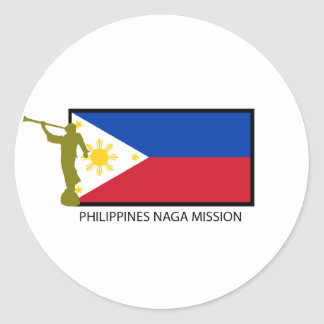 CTR DE LA MISIÓN LDS DEL NAGA DE FILIPINAS PEGATINA REDONDA