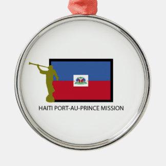 CTR DE LA MISIÓN LDS DEL PORT-AU-PRINCE DE HAITÍ ADORNO NAVIDEÑO REDONDO DE METAL
