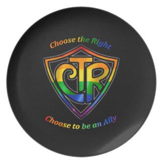 CTR del arco iris - Aliado de LDS LGBT Plato