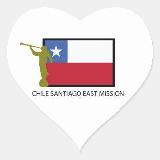CTR del este de la misión LDS de Chile Santiago Pegatina Corazón Personalizadas