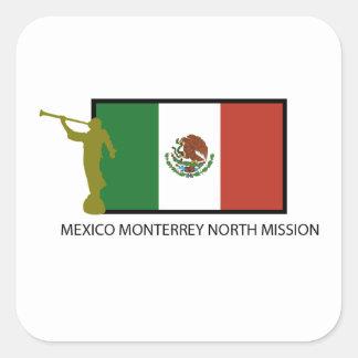 CTR DEL NORTE DE LA MISIÓN LDS DE MÉXICO MONTERREY PEGATINA CUADRADA