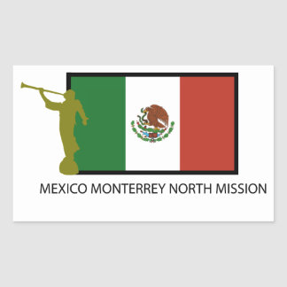 CTR DEL NORTE DE LA MISIÓN LDS DE MÉXICO MONTERREY PEGATINA RECTANGULAR