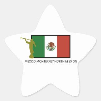 CTR DEL NORTE DE LA MISIÓN LDS DE MÉXICO MONTERREY PEGATINA EN FORMA DE ESTRELLA