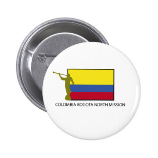 CTR del norte LDS de la misión de Colombia Bogotá Pin Redondo 5 Cm