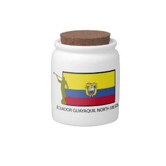 CTR del norte LDS de la misión de Ecuador Guayaqui Plato Para Caramelo