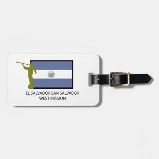 CTR DEL OESTE DE LA MISIÓN LDS DEL SALVADOR SAN SA ETIQUETA PARA MALETA