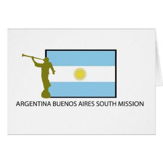 CTR DEL SUR BYU DE LA MISIÓN LDS DE LA ARGENTINA B TARJETA DE FELICITACIÓN