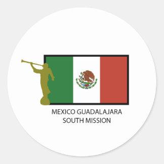 CTR DEL SUR DE LA MISIÓN LDS DE MÉXICO GUADALAJARA ETIQUETAS REDONDAS
