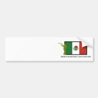 CTR DEL SUR DE LA MISIÓN LDS DE MÉXICO MONTERREY PEGATINA PARA AUTO