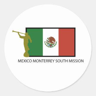 CTR DEL SUR DE LA MISIÓN LDS DE MÉXICO MONTERREY PEGATINA REDONDA