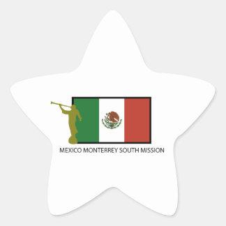 CTR DEL SUR DE LA MISIÓN LDS DE MÉXICO MONTERREY PEGATINA EN FORMA DE ESTRELLA