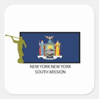 CTR DEL SUR DE LA MISIÓN LDS DE NUEVA YORK NUEVA CALCOMANIA CUADRADAS PERSONALIZADAS
