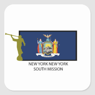 CTR DEL SUR DE LA MISIÓN LDS DE NUEVA YORK NUEVA Y CALCOMANÍA CUADRADAS PERSONALIZADAS