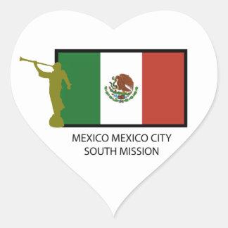 CTR DEL SUR LDS DE LA MISIÓN DE MÉXICO CIUDAD DE M CALCOMANÍA DE CORAZÓN PERSONALIZADAS