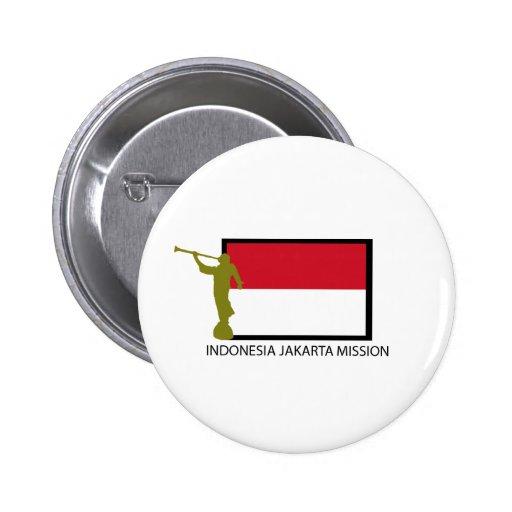 CTR LDS DE LA MISIÓN DE INDONESIA JAKARTA PINS