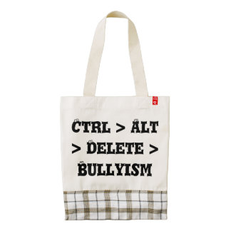 Ctrl > Alt > cancelación > Bullyism - matón anti Bolsa Tote Zazzle HEART