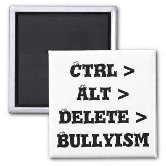 Ctrl > Alt > cancelación > Bullyism - matón anti Imán De Nevera