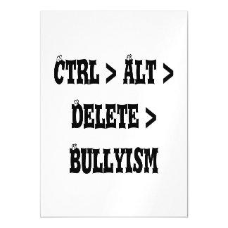 Ctrl > Alt > cancelación > Bullyism - matón anti Invitaciones Magnéticas