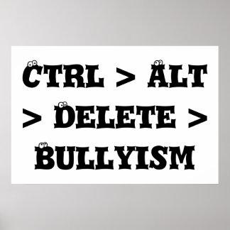 Ctrl > Alt > cancelación > Bullyism - matón anti Póster