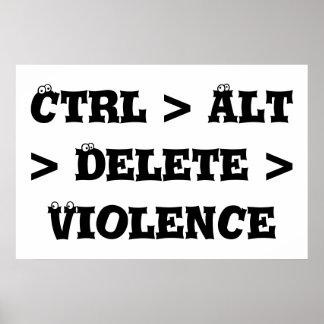 Ctrl > Alt > cancelación > violencia - matón anti Poster