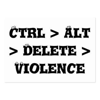 Ctrl > Alt > cancelación > violencia - matón anti Tarjetas De Visita Grandes