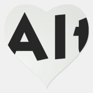 Ctrl Alt Del Heart Sticker